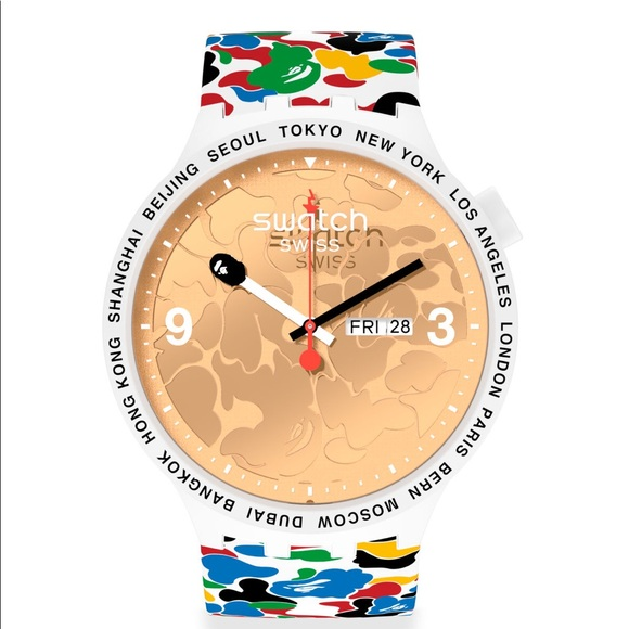 Swatch Other - SWATCH X BAPE TOKYO WHITE MULTI CAMO